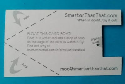 My Business Card Boat